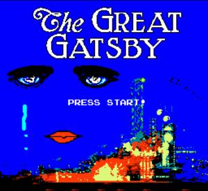 Great Gatsby for NES (Start Screen)