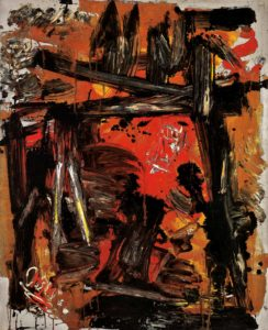 Red Composition, 1967, oil on canvas. Courtesy of Miriam L. Smith, Art Resource Group