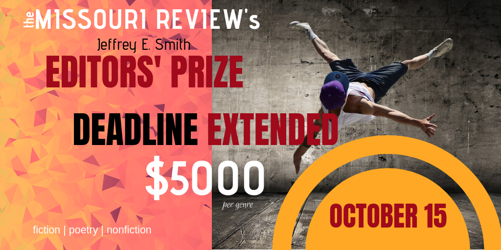 Submit to the Jeffrey E. Smith Editors' Prize before October 15!
