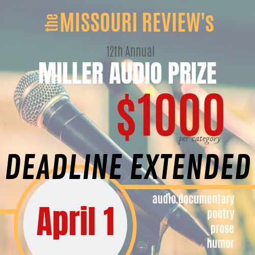 Miller Audio Prize | The Missouri Review