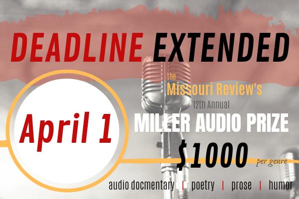 2019 Miller Audio Prize_EXTENDED DEADLINE