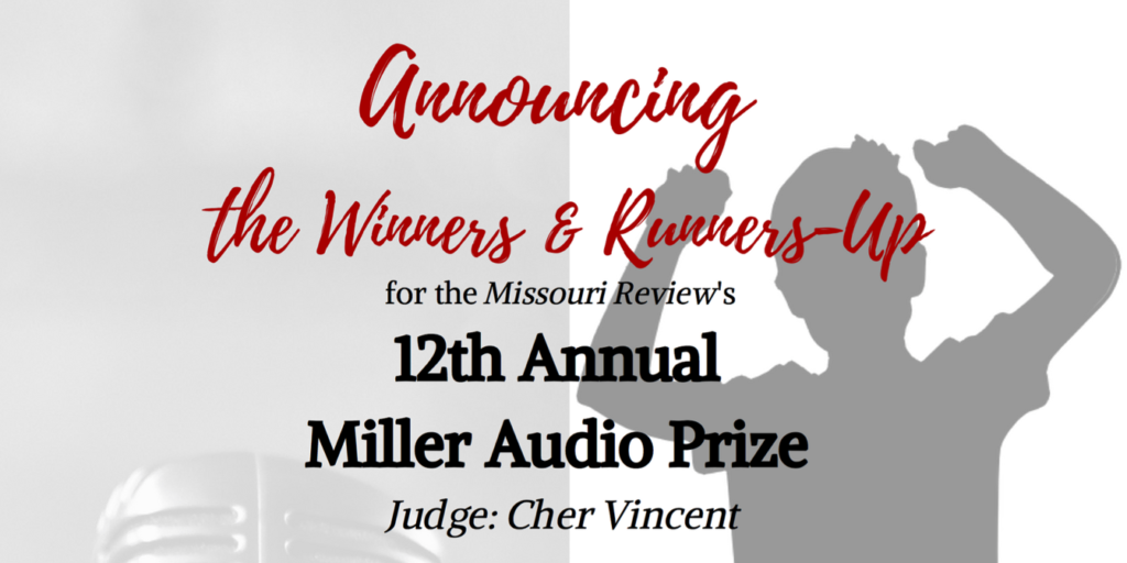 Please join us in congratulating the winners and runners-up for the 2019 Miller Audio Prize!